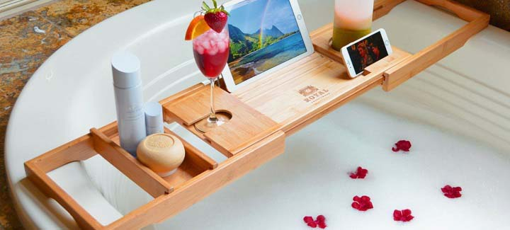 Relax With A Bathroom Caddy Tray