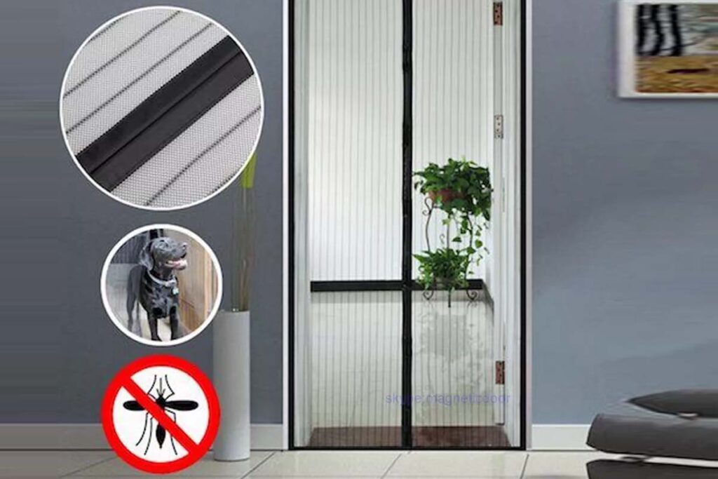 Best magnetic screen door mess curtain